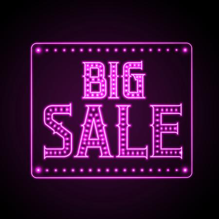 big sale: Neon Sign. Big sale