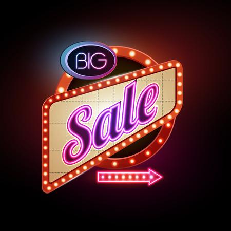 Neon Sign. Big sale