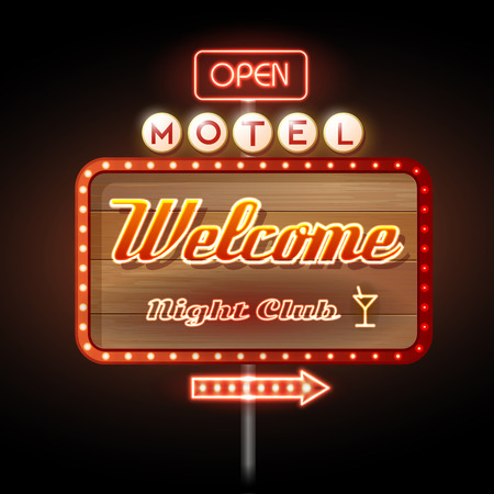 Neon Sign. Motel open