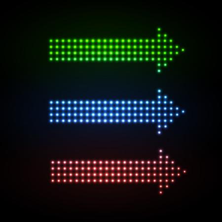 Neon sign arrows