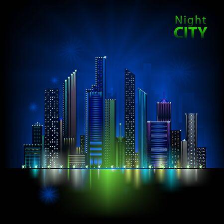 dock: Neon night city