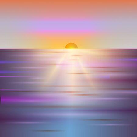 Sunset or sunrise background