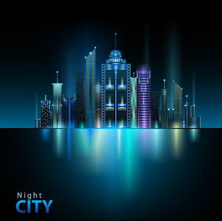 docks: Neon night city
