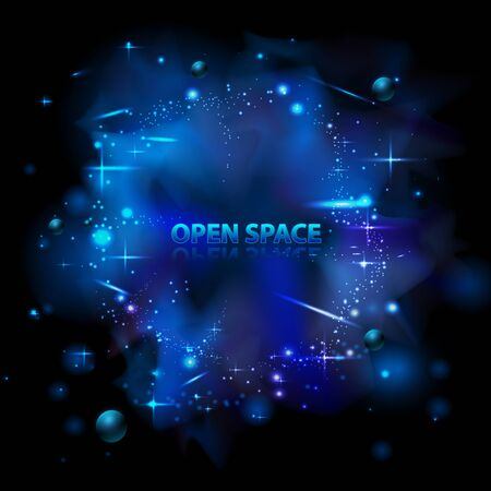 Abstract neon space