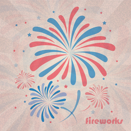 Retro holiday firework