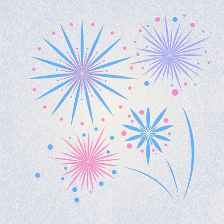 Vector retro holiday firework