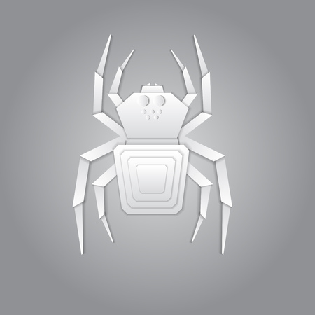 terrified: 3d origami paper spider