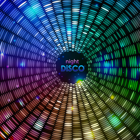 Disco abstract geometry background