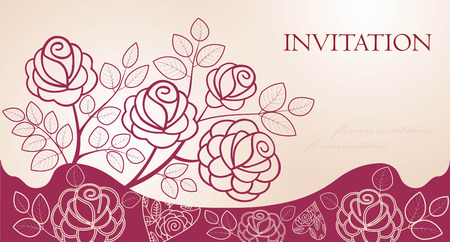 Invitation with roses