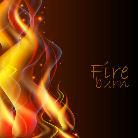 flayer: abstract fire background