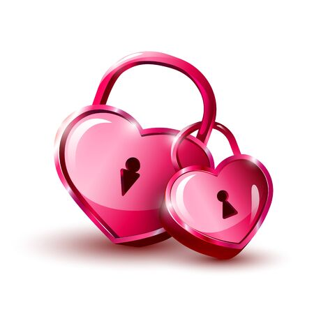 Red hearts icon. Happy Valentine`s Day background