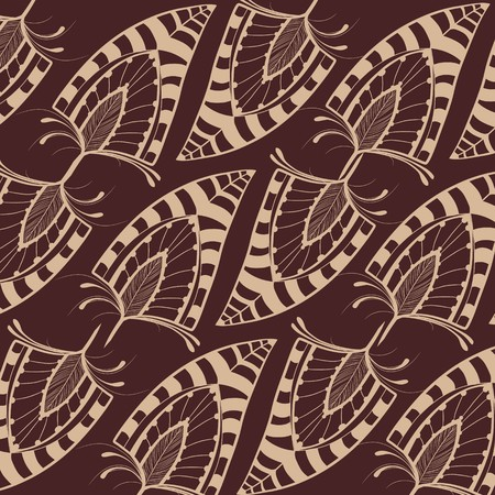 Decorative feather pattern background