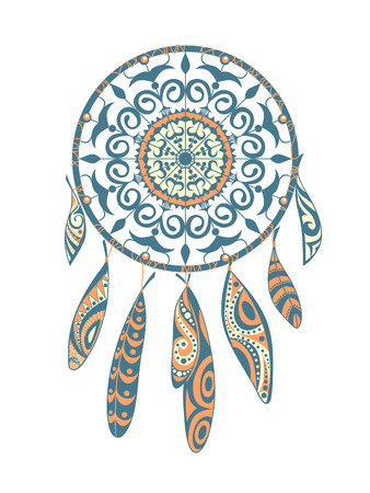 abstract paintings: Decorative Dreamcatcher