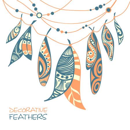 quills: Decorative feathers Illustration
