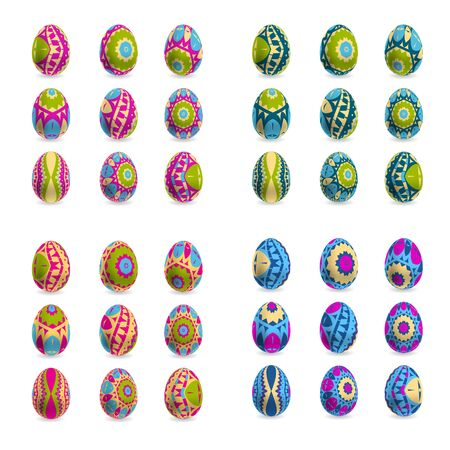canvass: Set of Easter decorative eggs