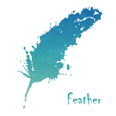 Watercolor feather background Illustration