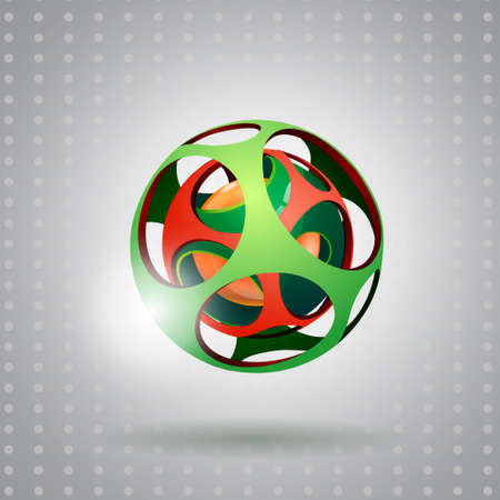 Abstract 3d technology sphere. Illustration
