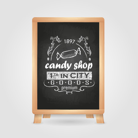 stuffing: Chalk drawings. Retro typography. Candy