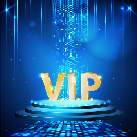 VIP Disco party poster. Disco background.