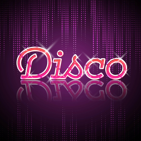 Neon sign. Disco party Illustration