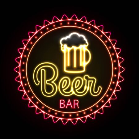 mag: Neon sign. Beer bar