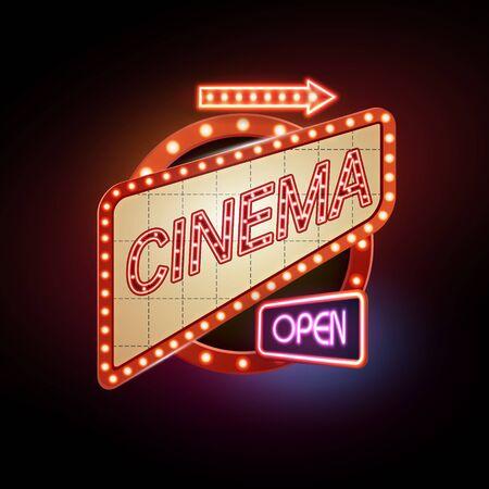 Neon timbro. cinema