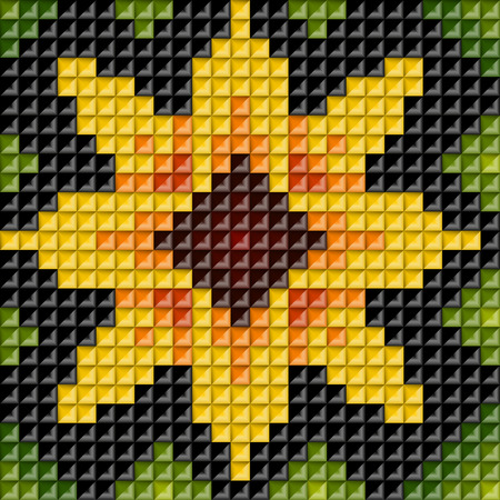 Ethnic geometric ornament. Pattern background