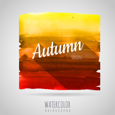 Watercolor abstract background. Seasons. Autumn