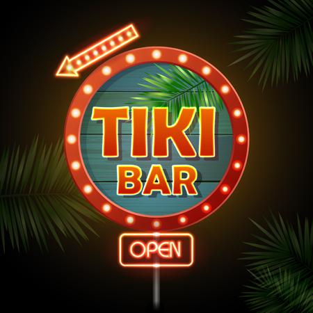 Neonschild. Tiki-Bar Standard-Bild - 79716235
