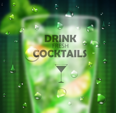 gin: Cocktail blused background Illustration