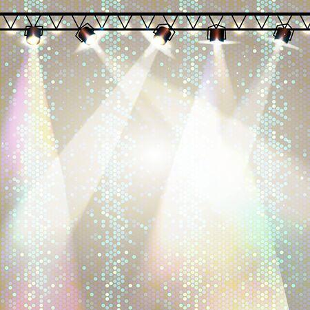 Disco background. Disco poster Çizim