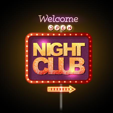 roadsign: Neon sign night club