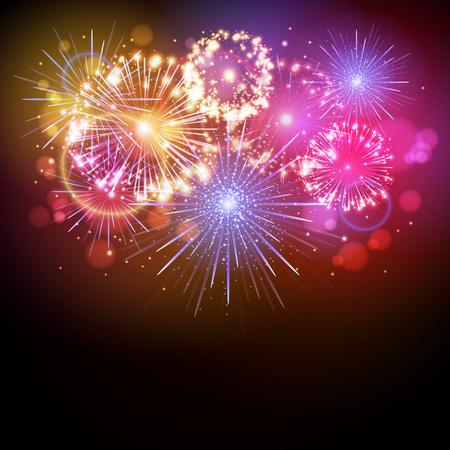 Vector holiday firework