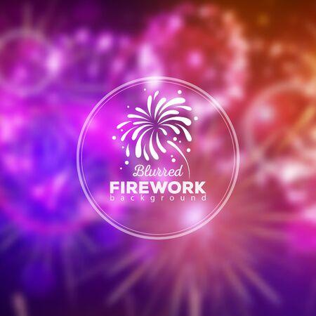 Vector holiday firework blur background