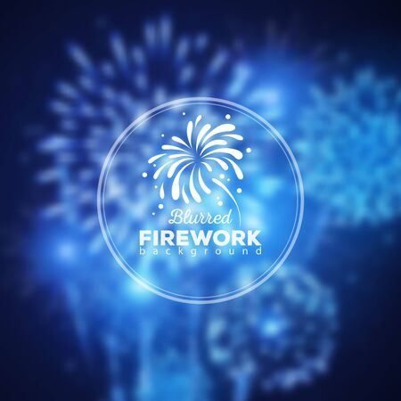Vector holiday firework background
