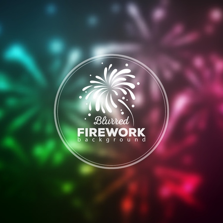 Vector holiday firework blused background