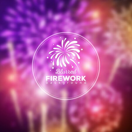 Vector holiday firework blur background