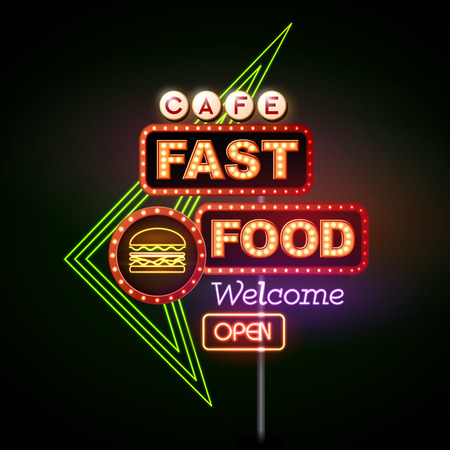 Fast Food Neon sign