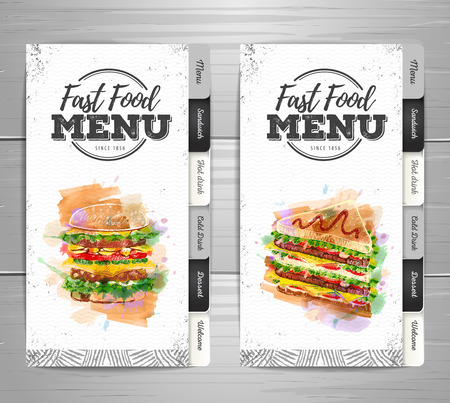 Vintage fast food menu design