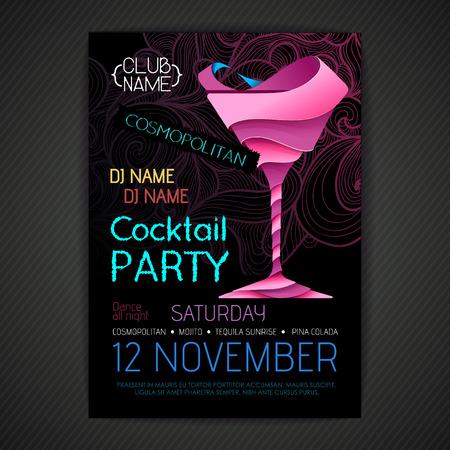 Disco party poster design.