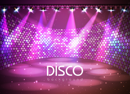 Disco abstract background Vector illustration.