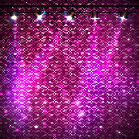 Disco abstract pink neon illustration.