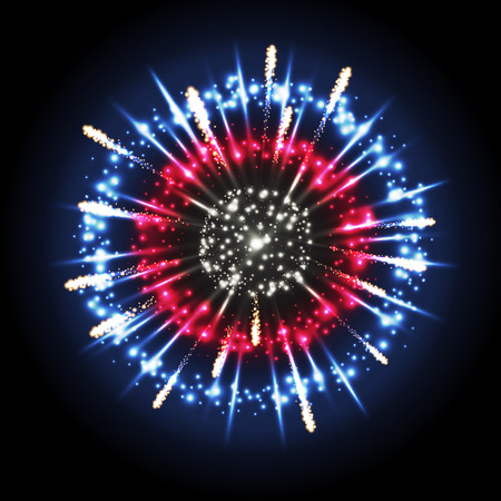 Holiday firework display design on black background