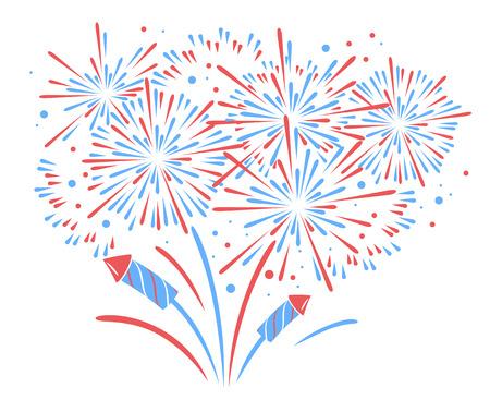 Vector holiday firework. Independence day of America Illusztráció