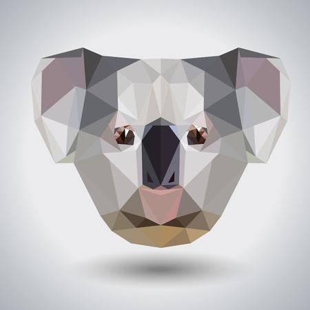 Abstract polygonal tirangle animal koala. Hipster animal illustration. Illusztráció