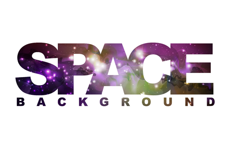 Space sign with space background inside. Abstract open space background. Starfield, universe, nebula in galaxy.