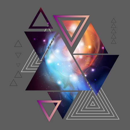 Abstract hipster polygonal triangle background with open space inside. 写真素材 - 107345074