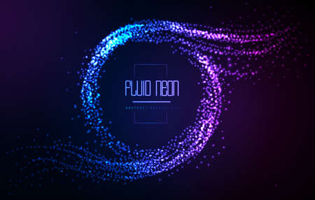 Modern neon abstract fluid background. Neon disco party background Illustration