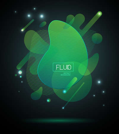 Set of abstract modern graphic elements. Fluid abstract geometric background. Dynamic technology background
