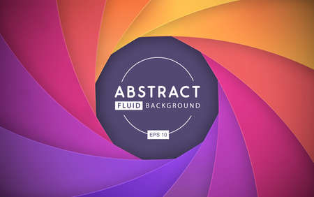 Gradient abstract 3D fluid background. Modern cover design. Paper design. Vector illustration